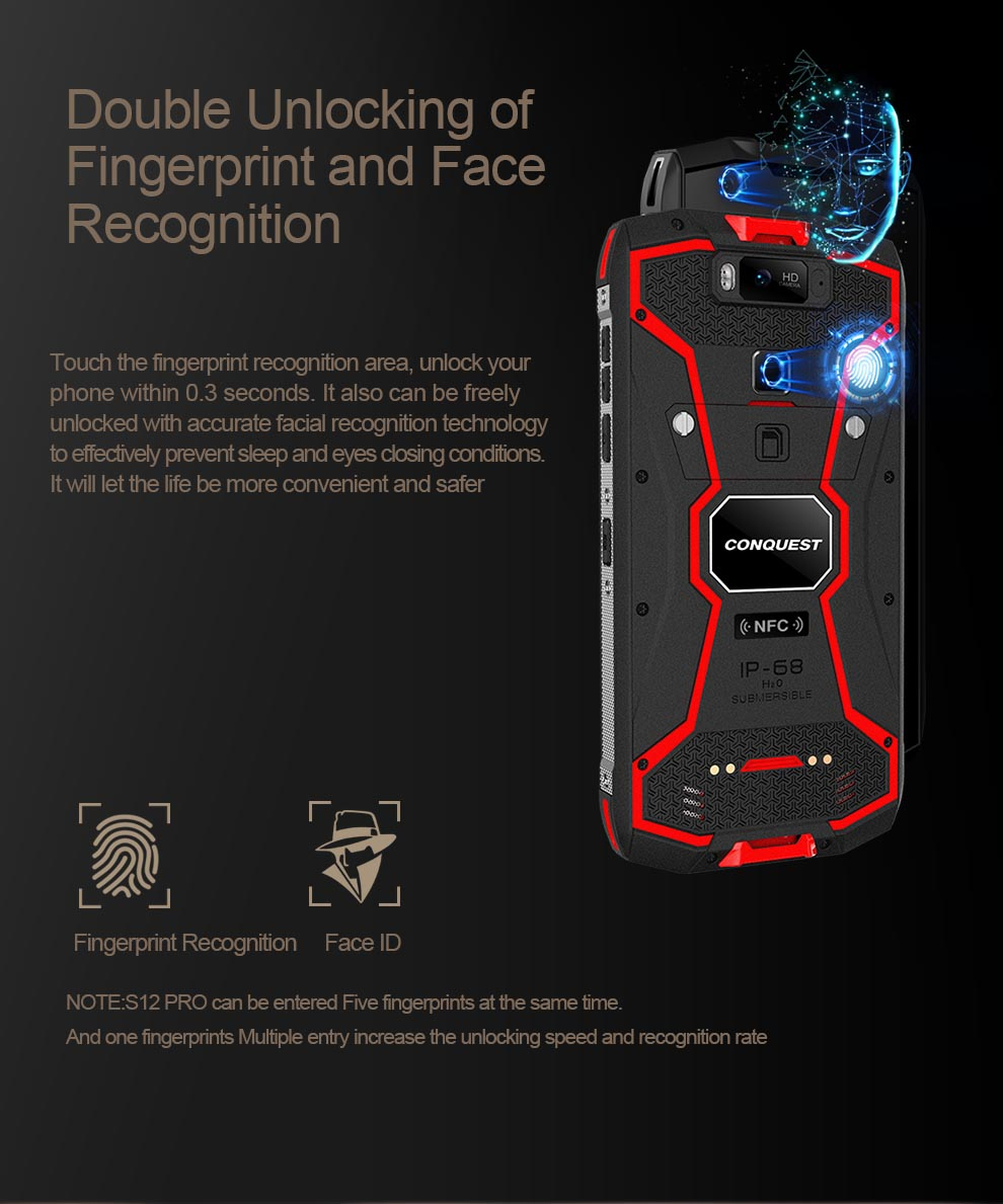 Conquest S12 Pro Rugged Smartphone 10