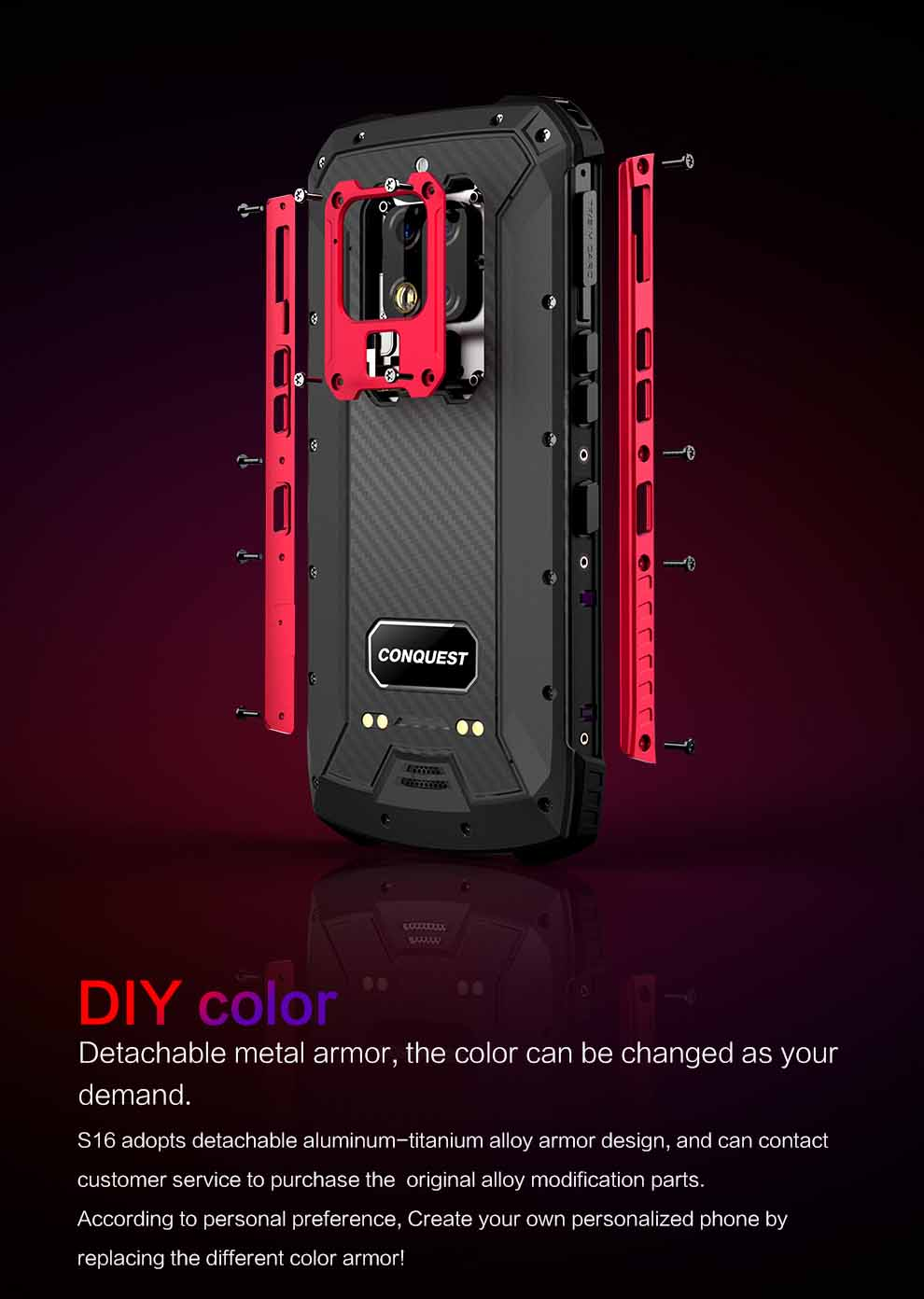 Conquest S16 Rugged Smartphone 6