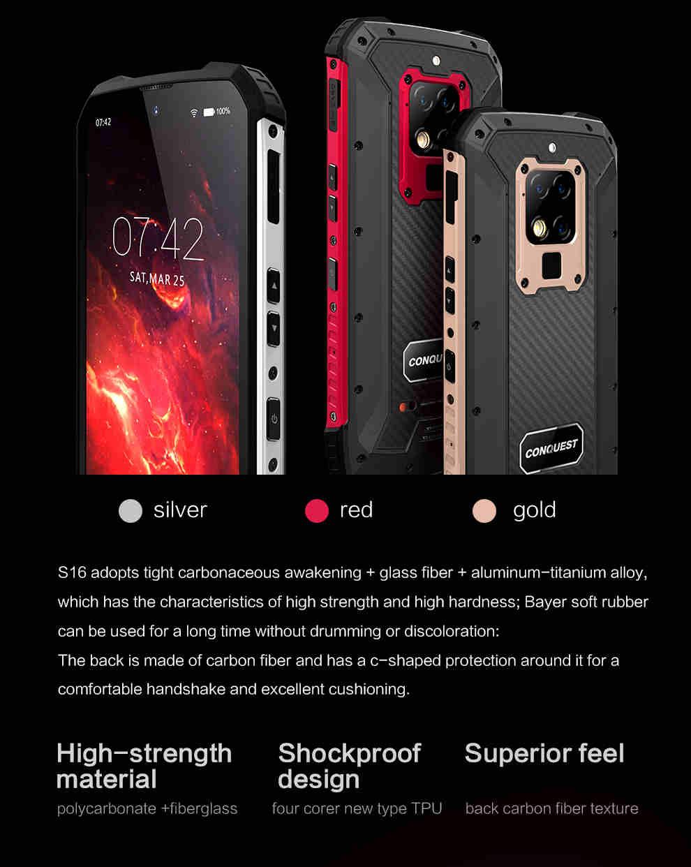 Conquest S16 ATEX Rugged Smartphone 7